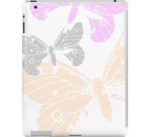 Butterflies on white BG  iPad Case/Skin