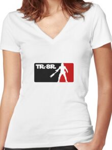 Loyal Trooper TR-8R Logo Women's Fitted V-Neck T-Shirt