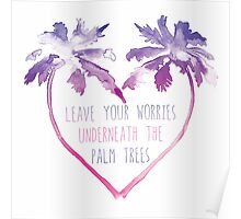 Watercolor Palm Trees Poster
