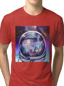 astronaut world map 1 Tri-blend T-Shirt