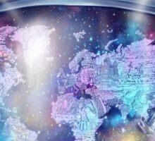 astronaut world map 1 Sticker