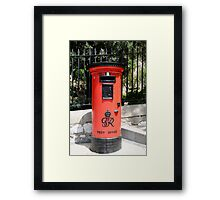 George Postbox Red Framed Print