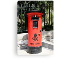 George Postbox Red Canvas Print