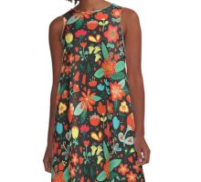 Flowers and hearts A-Line Dress