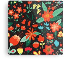 Flowers and hearts Metal Print