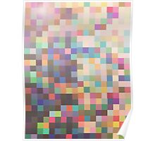 Pattern 039 Rainbow Multicolor Faded Poster