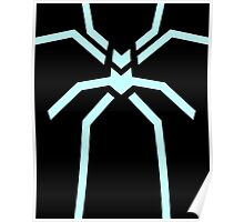 Stealth Spider Blue Poster