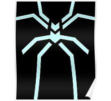Stealth Spider Blue Poster