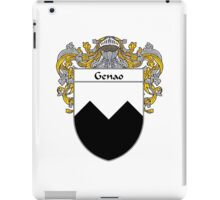 Genao Coat of Arms/Family Crest iPad Case/Skin