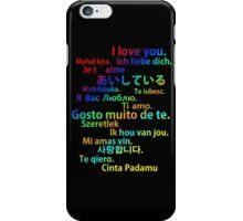 i love you multi language case iPhone Case/Skin