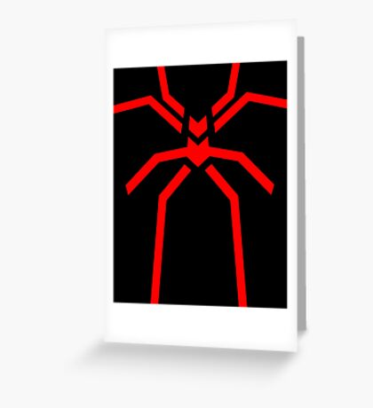 Stealth Spider Red Greeting Card