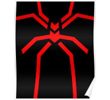 Stealth Spider Red Poster