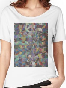 Pattern 041 abstract rainbow Painting Bricks Women's Relaxed Fit T-Shirt