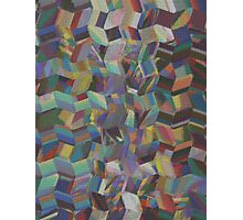 Pattern 041 abstract rainbow Painting Bricks Photographic Print