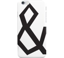 Jagged Ampersand iPhone Case/Skin