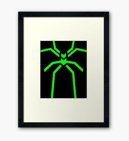 Stealth Spider Green Framed Print