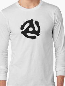 Record adapter (black) Long Sleeve T-Shirt