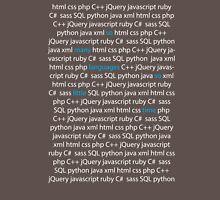 So Many Languages, So Little Time - Nerd / Code Shirt - Dark Unisex T-Shirt