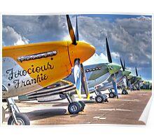 Warbird Flighline - Duxford 2014 - HDR Poster
