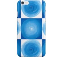 Blue And White Circles Abstract Pattern iPhone Case/Skin
