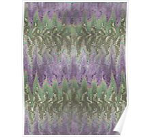 Pattern 042 Ripple Colorful Purple Waves, Green Poster