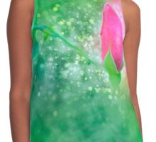 Digitally manipulated exploding red Rose bud Contrast Tank