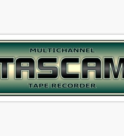 Multichannel Tascam Tape Recorder Sticker