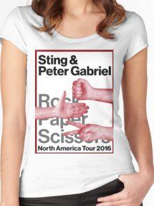 PETER GABRIEL STING ROCK PAPER SCISSORS 2016 Women's Fitted Scoop T-Shirt