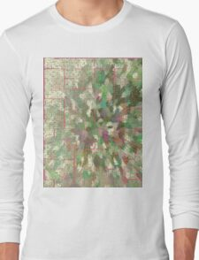 Pattern 043 Chinese Inspired Map, Dungeon Forest Long Sleeve T-Shirt