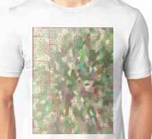 Pattern 043 Chinese Inspired Map, Dungeon Forest Unisex T-Shirt