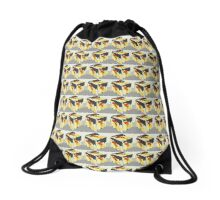 Tulips a cubed  Drawstring Bag