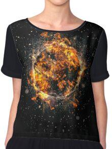 Digitally created Exploding supernova star  Chiffon Top