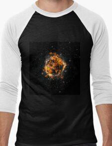 Digitally created Exploding supernova star  Men's Baseball ¾ T-Shirt
