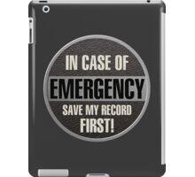Save my record iPad Case/Skin