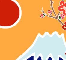 Mount Fuji in Spring Sticker
