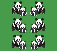 Panda family pattern Kids Tee