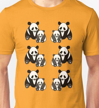 Panda family pattern Unisex T-Shirt