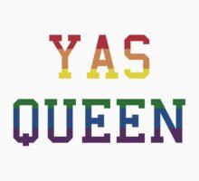 Yas queen rainbow Kids Tee