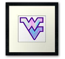 Trippy West Virginia Logo Framed Print