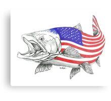 American Steel Head Salmon Metal Print