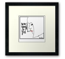 Young and free Framed Print