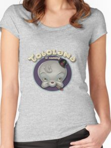 TOBOLAND is coming! Women's Fitted Scoop T-Shirt