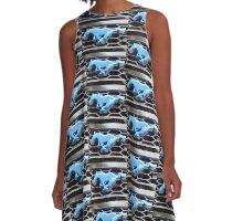 My Blue Pony A-Line Dress