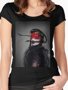 BJORK RED EYES Women's Fitted Scoop T-Shirt