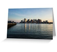 Skyline of Boston Greeting Card