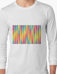 Rainbow Lines Pattern Long Sleeve T-Shirt