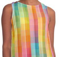 Rainbow Lines Pattern Contrast Tank