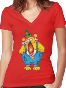 Grandpa Bear Women's Fitted V-Neck T-Shirt