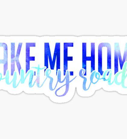 west virginia wvu take me home home country roads Sticker