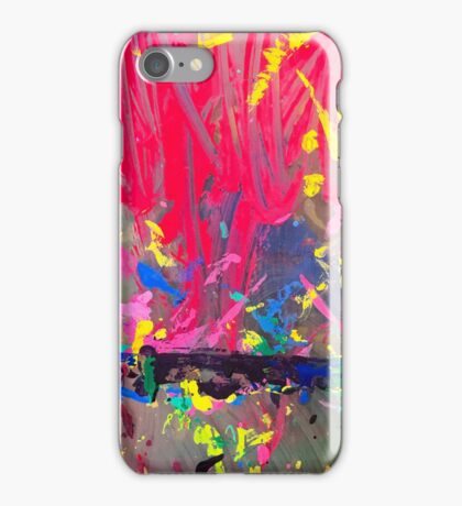 Kid's easel splattered with paint iPhone Case/Skin